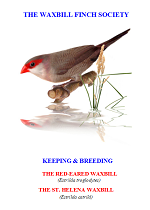 front cover featuring image of a red-eared waxbill and a St Helena waxbill.