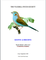 front cover featuring image of a red-cheeked Cordon Bleu.