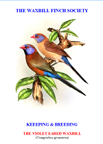 front cover featuring image of a violet-eared waxbill.