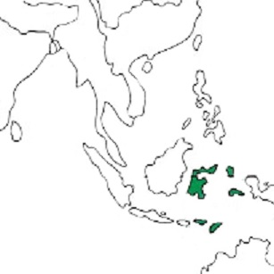 Map showing distribution of the species